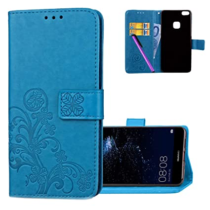 Amazon.com: HMTECH Huawei P10 Lite Case Embossed Floral Card ...