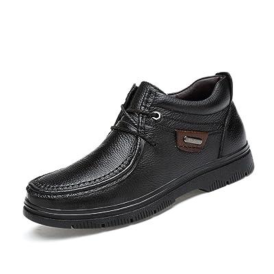 ZQ@QXMartin de tendances de mode d'hiver chaud Chaussures hommes bottes chaussures grande taille pour hommes