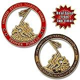 Marine Corps Iwo Jima USMC Challenge Coin with Real Sand of Iwo Jima Review