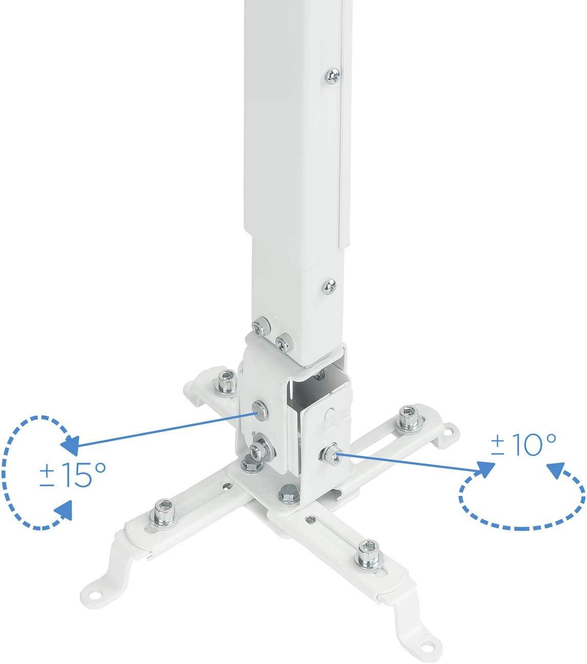 TooQ PJ2012T-W - Soporte de techo inclinable para proyector ...