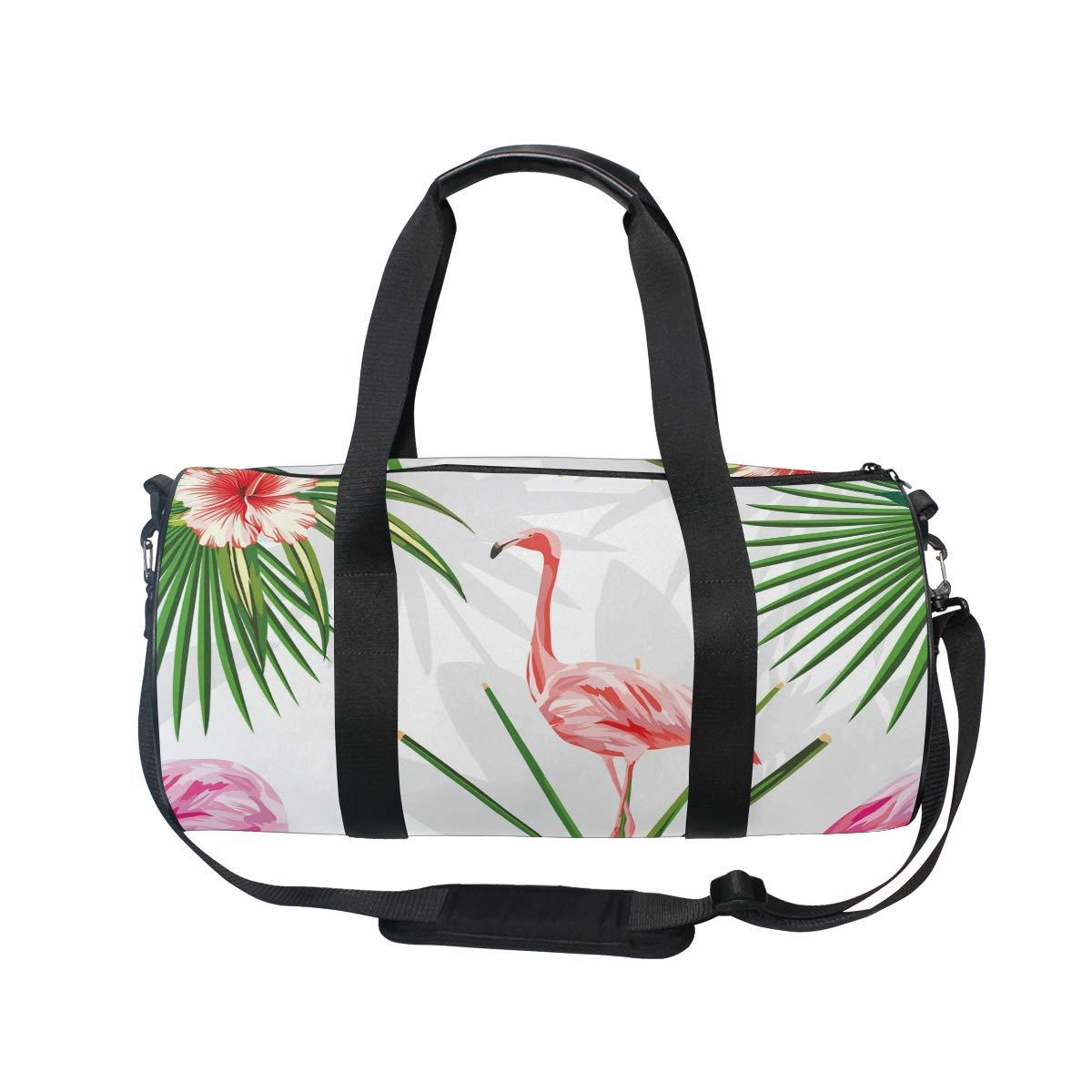 Flamingo Sports Gym Bag Travel Duffel Bag with Pockets Luggage & Travel Gear Shoulder Strap Fitness Bag by EVERUI (Image #2)
