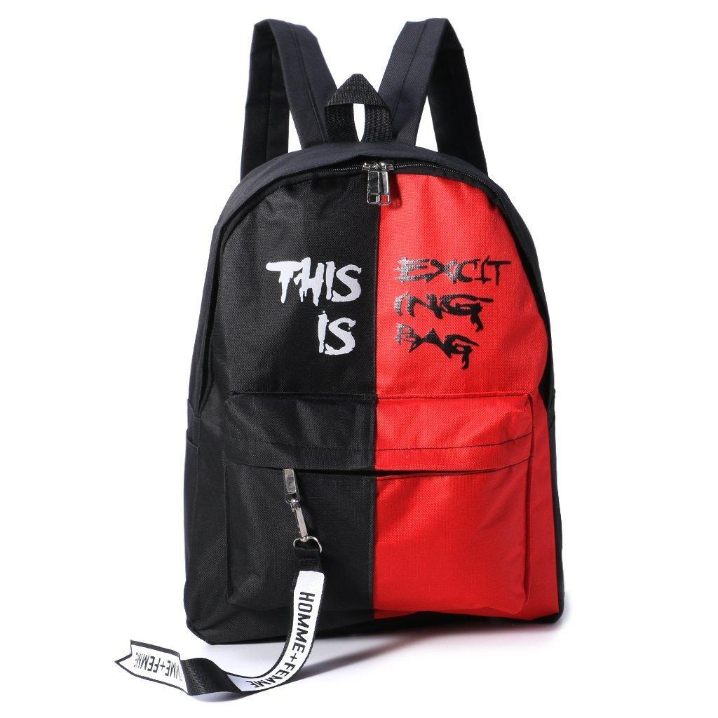 cicitopカジュアルキャンバスバックパック旅行サッチェルショルダーバッグファッションリュックサックファッションノートパソコンバックパックスクールバッグ  レッド B07G16F2L3