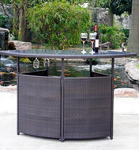 pebble lane living rust proof premium outdoor wicker bar. Black Bedroom Furniture Sets. Home Design Ideas