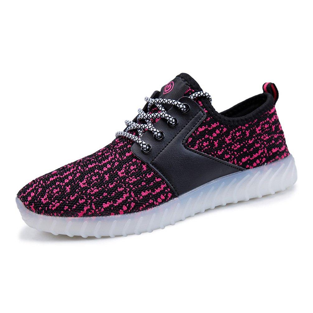 KEVENI Kids Boys Girls Light up Shoes Lace up Flashing Sneakers 11 Colors LED Shoes