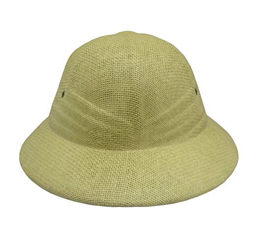 best loved ec574 b26c8 Amazon.com  Nicky Bigs Novelties Deluxe Pith Helmet Safari Hat, Adjustable,  Khaki  Clothing