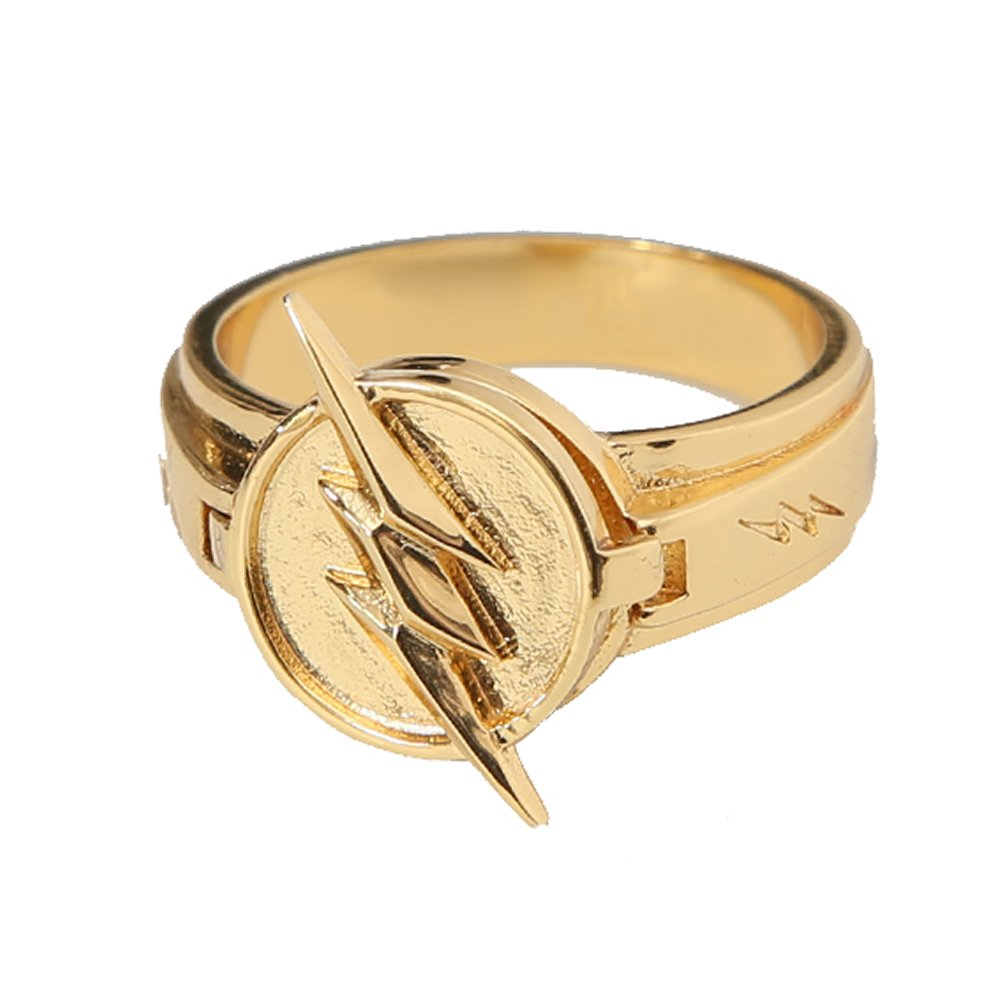 Amazon.com: Flash Ring Size 10 Zinc Alloy Deluxe Golden Lightning ...