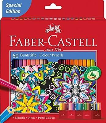 Faber-Castell 111260 - Estuche-soporte de cartón con 60 lápices de ...