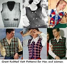 Grande malha colete padrões para homens e mulheres (Portuguese Edition)
