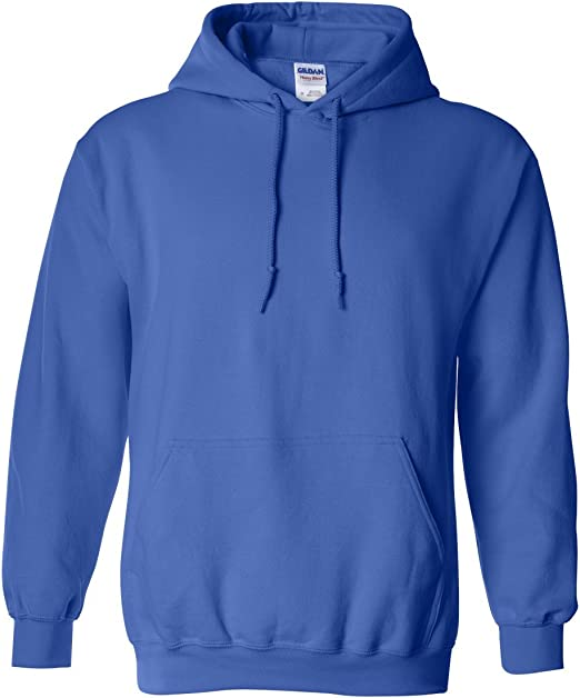Gildan G18500 Heavy Blend Adult Unisex Hooded Sweatshirt L 1 Royal 1 Orange