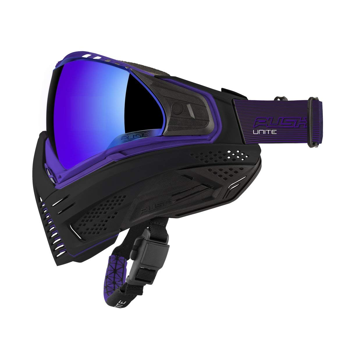 Push Unite Paintball Goggles MASK with Quad PANE Lens and CASE (Purple) by Push Paintball