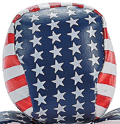 Patriotic Stars & Stripes Hacky Sacks (Set of 12) 4th of July Party Favors