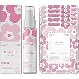 Nabia Rose Face Sheet Mask(5 sheets) + Rose Face Mist(3.38 Fl oz.) Set