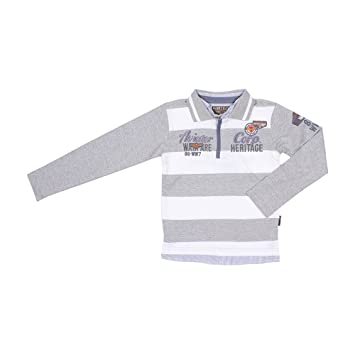 Harry Kayn - Chico polo de manga larga ECHAGOR38-gris/blancoo-3 ...