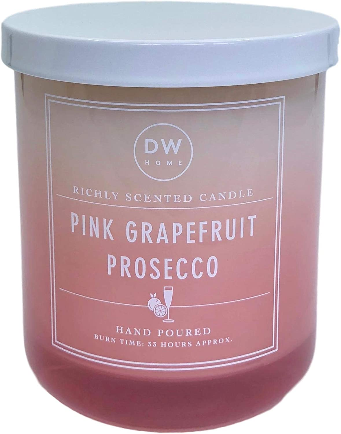 DW Home Pink Grapefruit Prosecco Scented Candle