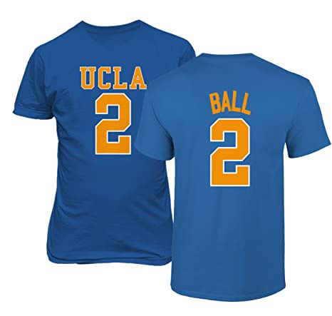 cf9f2c1d54a9 UCLA 2017 Bruins Lonzo Ball 2 College Basketball Men s T Shirt (Royal ...