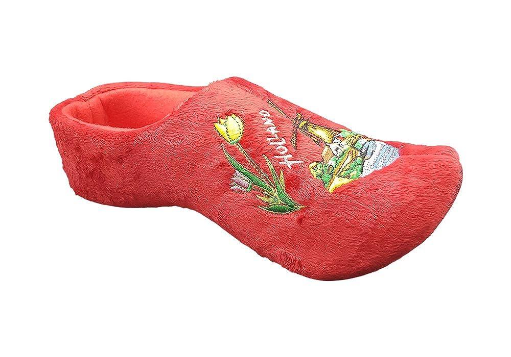 Zapatillas mujer holandeses rojo: Amazon.es: Zapatos y ...