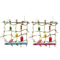Gowind6Acrylique Corde Filet balançoire Échelle Jouet pour Animal Domestique Parrot Oiseaux Chew Jouer d'escalade