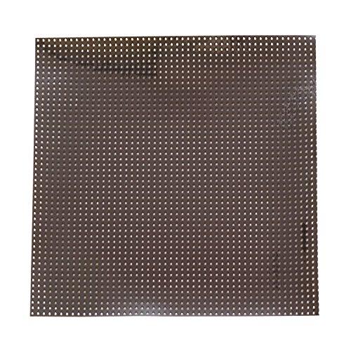 KIYOHARA パンチングエナメルカット 20cm×20cm ブラック FABM-04C #BK