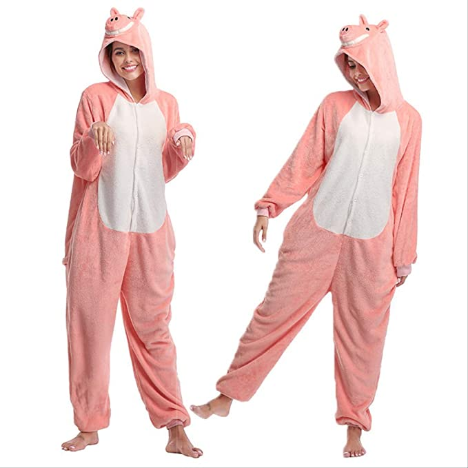 Onesie Pijamas, Anime Pig All-in-One Pijama de Pareja, Ropa de ...
