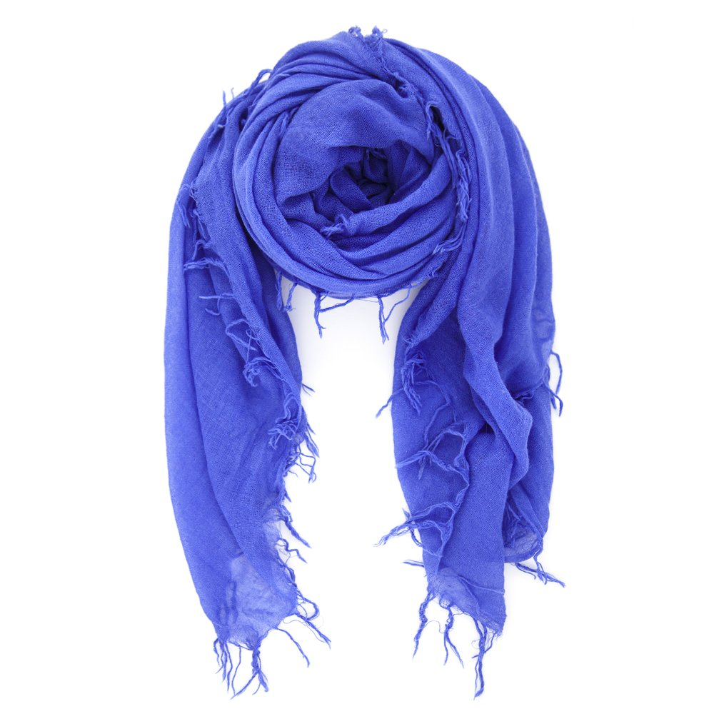 Chan Luu Women's Cashmere and Silk Scarf Baja Blue One Size
