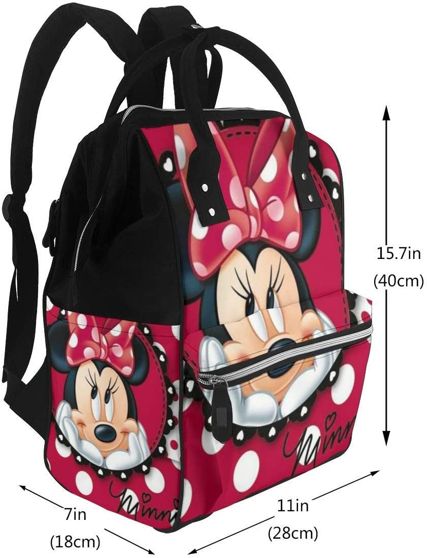 NHJYU Sac /à langer Sac /à dos Minnie Dots Multifunction Waterproof Travel Sac /à dos Maternity Baby Nappy Changing Bags