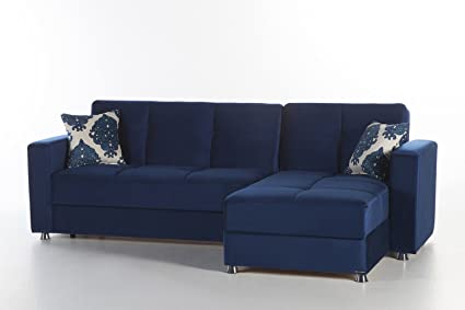 Amazon.com: Elegant Sectional Sofa | Roma Navy: Kitchen & Dining
