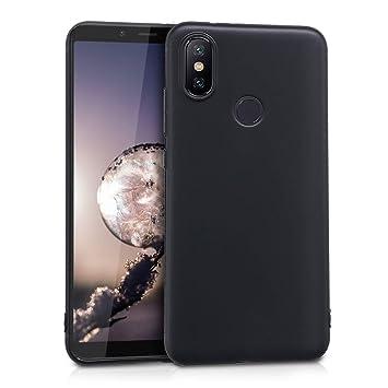 kwmobile Funda para Xiaomi Mi 6X / Mi A2 - Carcasa para móvil en [TPU Silicona] - Protector [Trasero] en [Negro Mate]