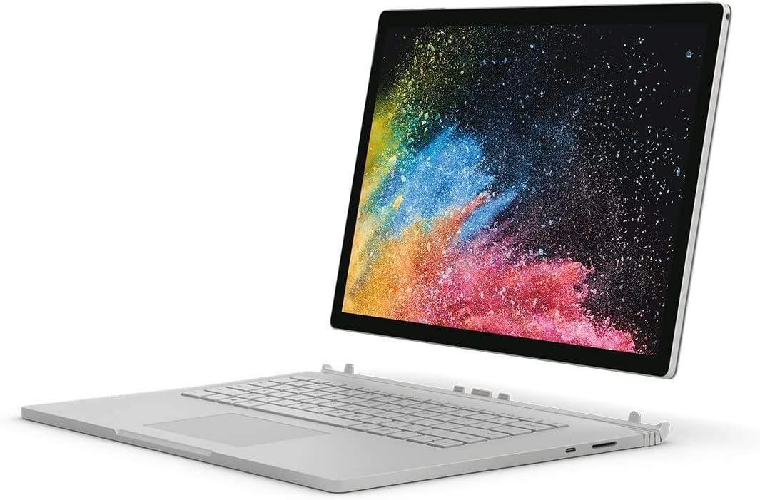 Microsoft Surface Book 2 (HNL-00018), 2 in 1 Laptop, Intel Core i7-8650U, 13.5 Inch, 512 GB SSD, 16GB RAM, NVIDIA GeForce GTX 1050, Windows 10 Pro, Eng-Ara KB, Silver [Middle East Version]