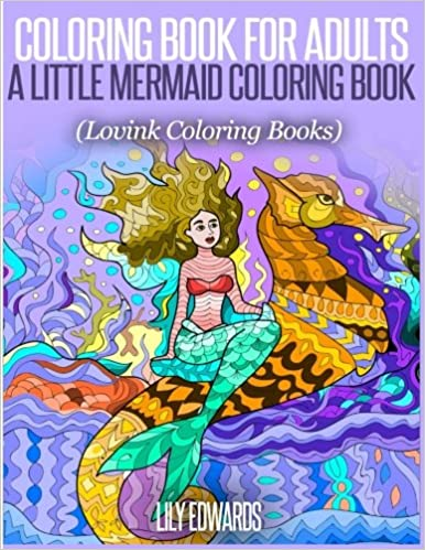 Amazon.com: Coloring Book for Adults A Little Mermaid Coloring Book ...