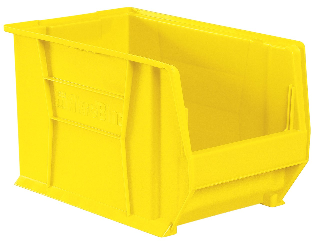 Akro-Mils 30283 20-Inch D by 18-Inch W by 12-Inch H Super Size Plastic Stacking Storage Akro Bin, Yellow