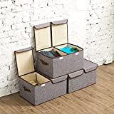 Large Storage Boxes [3-Pack] EZOWare Large Linen