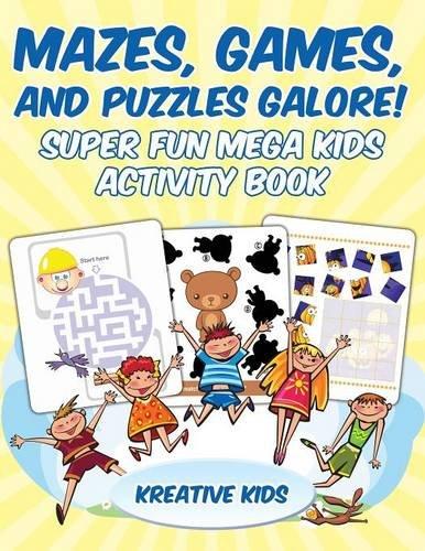 Download Mazes, Games, and Puzzles Galore! Super Fun Mega Kids Activity Book pdf