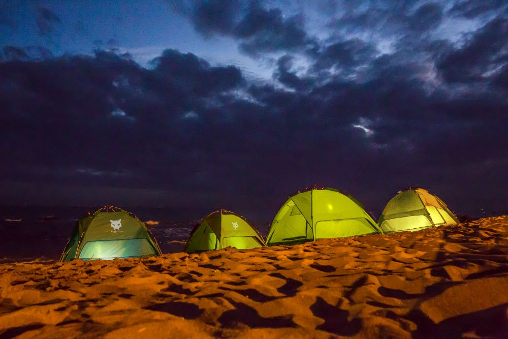 Night Cat Tente DE Camping 2 3 4 Personnes Instant Pop UP Dome DE Vacances Automatique Facile A Monter pour LA Randonnee en Plein AIR Tente Double Couche