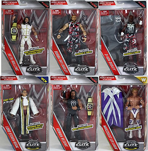 WWE Elite 45 - Complete Set of 6 Mattel Toy Wrestling Action Figures