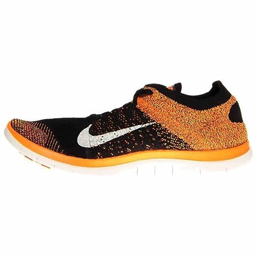 best service c1059 795bb Amazon.com: Nike Men's Free 4.0 Flyknit Running Shoe (Black, Total Orange)  Sz. 11: Sports & Outdoors