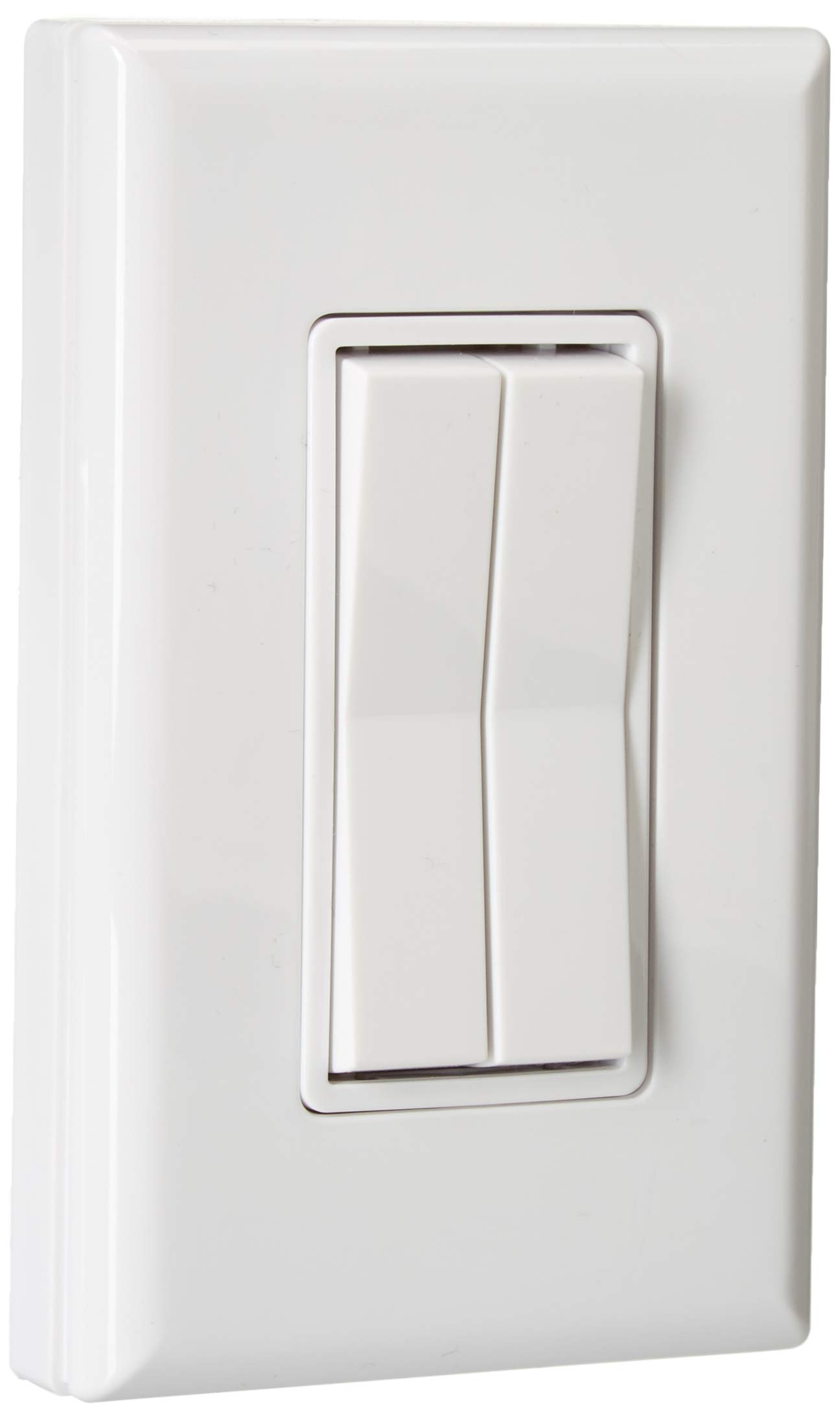 White - Click for Philips Hue Decora style Kinetic Dimmer switch for Philips Hue bulb or light, RunLessWire Friends of Hue upgrade for Hue Tap, Compatible w/Apple HomeKit, Alexa, Google Assistant