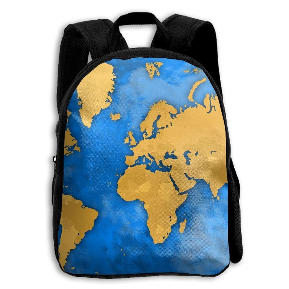 ETSBL BAG Africa America Antarctica Asia Map Outdoor Shoulders Bag Fabric Backpack Multipurpose Daypacks For Kids