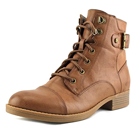Womens Fella Closed Toe Ankle Combat Boots
