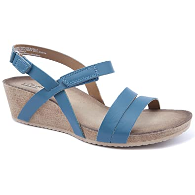 4a85ae712 Clarks Ladies Alto Gull Green Wedge Sandals Size 8  Amazon.co.uk ...