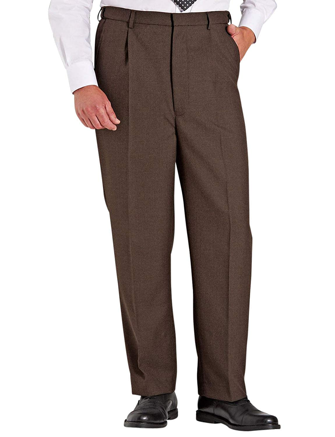 Men's Vintage Christmas Gift Ideas Chums Mens High Waisted Wool Blend Trouser Pants Stretch Waistband $48.79 AT vintagedancer.com