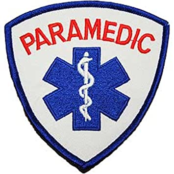 amazon com paramedic logo patch red white 3 5 8 rh amazon com paramedic logo vector paramedic logo vector