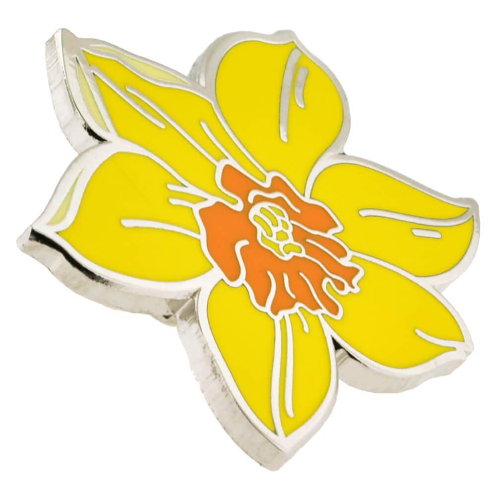 PinMart Yellow Daffodil Flower Boutonniere Trendy Enamel Lapel Pin by PinMart (Image #2)