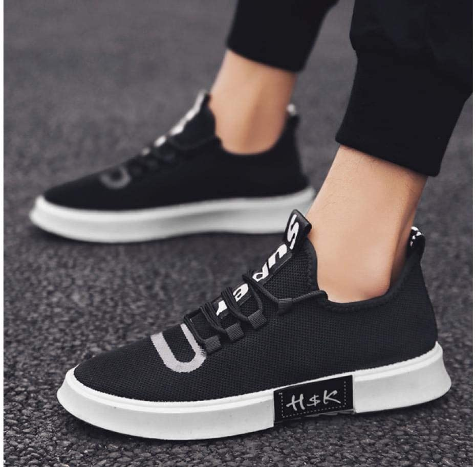 WAXFAS Spring and Summer New Men's Shoes Student Fashion Knit Wild Breathable Coconut Shoes 38