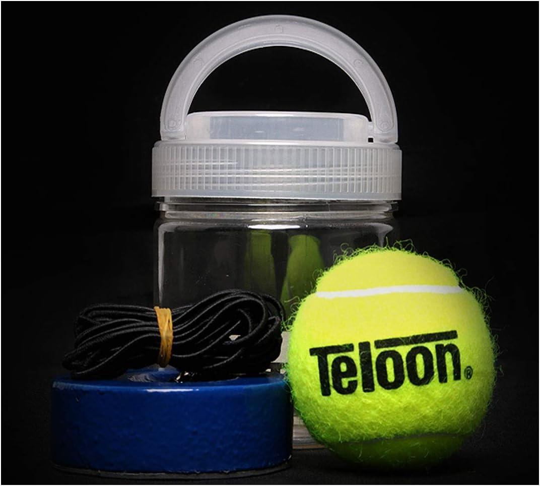 HUIJUNWENTI Entraîneur de Tennis, Entraîneur de Tennis Portable, Ensemble de Rebond de Ligne de Ceinture de Tennis Simple, Ballon d'entraînement pour débutant, Haute élasticité A