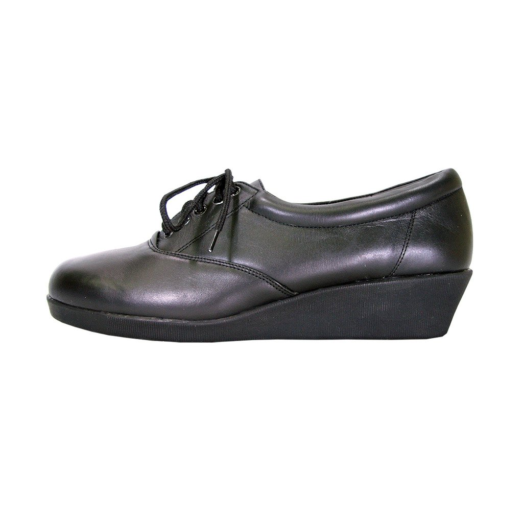 24 Hour Comfort  Debbie (1717) Women Extra Wide Width Leather Lace up Shoes Black 9 by 24 Hour Comfort (Image #2)