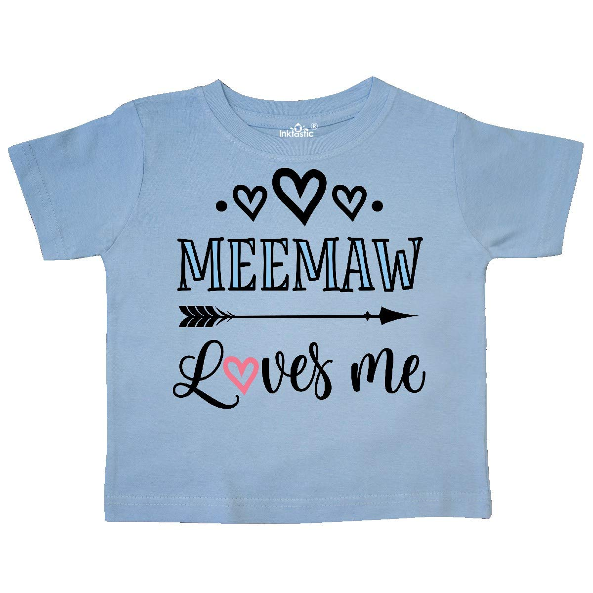 inktastic My Meemaw Loves Me Girls Toddler T-Shirt
