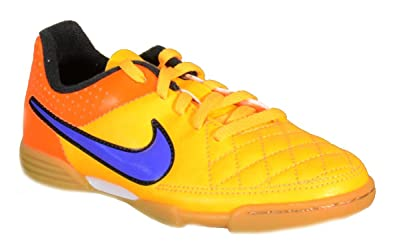 huge selection of b81b5 8015a Nike Unisex-Kinder Tiempo Rio II IC Fußballschuhe, Orange (LSR PRSN TTL Orng