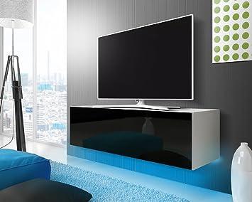 lana meuble tv suspendu table basse tv banc tv de salon 140