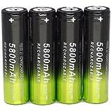 Hipzop 4x3.7V 18650 5800mAh Li-ion Rechargeable batterie pour LED lampe de poche