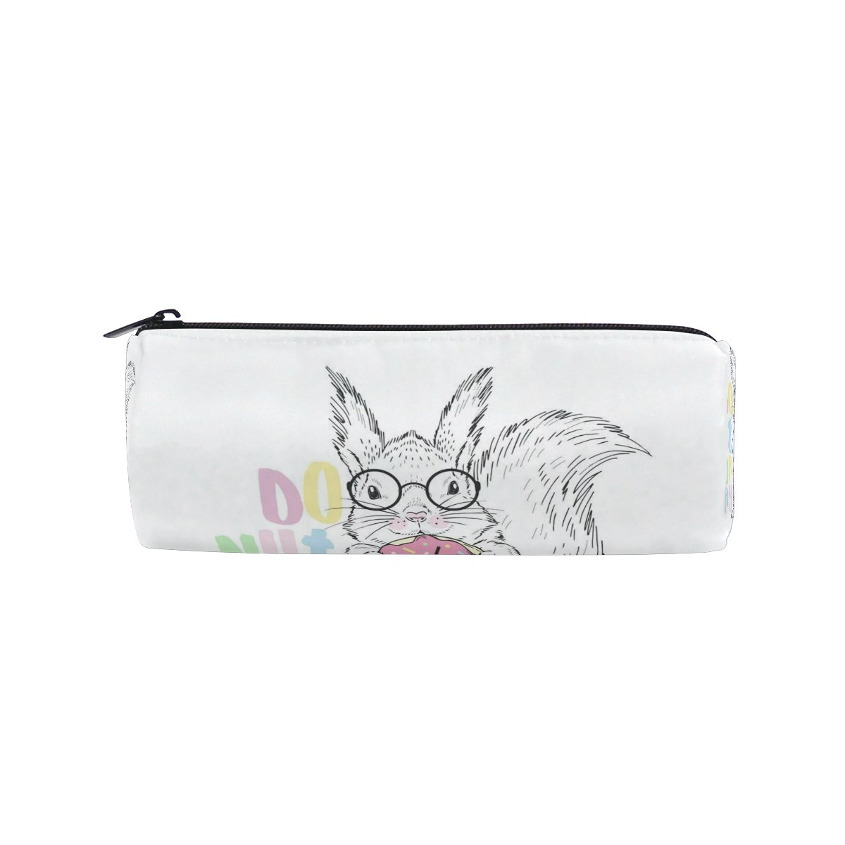 Cooper Girl Happy Squirrel Pencil Bag Pen Case Students Stationery Pouch Zipper Bag for Girls Boys Kids